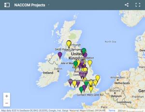 NACCOM projects map