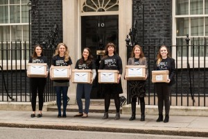 STAR paper boats in front of 10 Downing Street