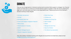 Scotland Welcomes Refugees donate