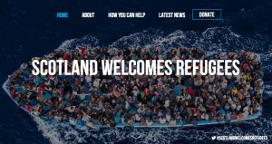 Scotland Welcomes Refugees homepage