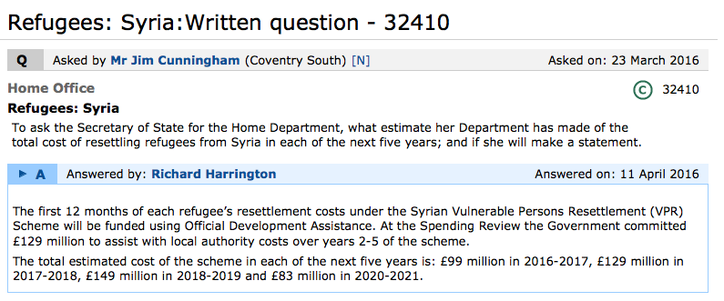 UK Government investing over £0.5bn in Syrian resettlement programme