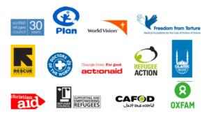 NGO Refugee Crisis Working Group logos
