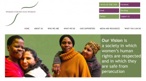 Women for Refugee Women homepage