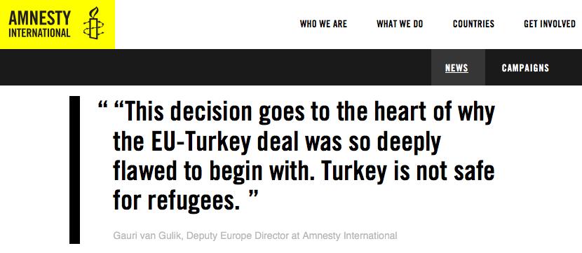 Amnesty: Refugee wins appeal against return to Turkey