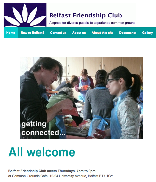 "Belfast Friendship Club – ""solidarity rather than charity"""