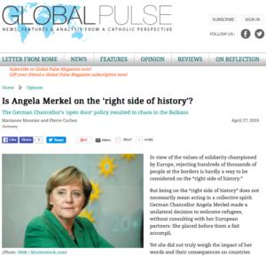 Global Pulse article about Angela Merkel