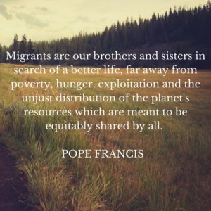 Pope Francis message on migrants and refugees