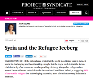 Project Syndicate Julia Gillard article snapshot