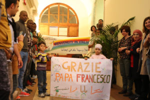 Refugees thank the Pope