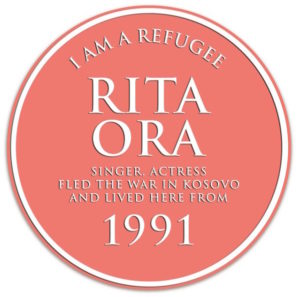 Rita Orr refugee plaque