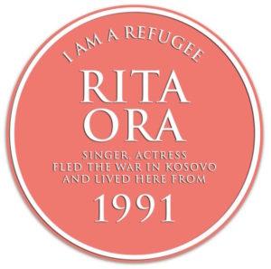 Rita Orr refugee plaque