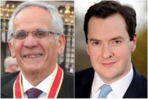 Sir Erich Reich and George Osborne