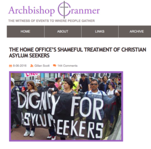 Archbishop Cranmer web snippet