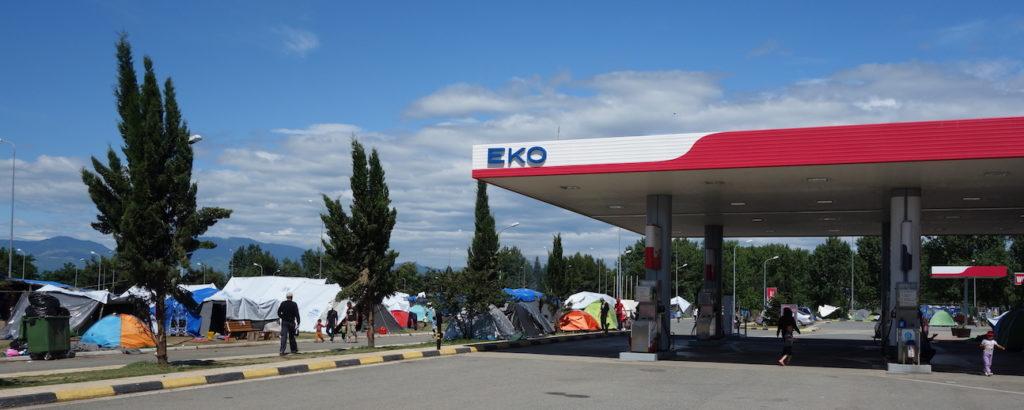 Eko petrol station wild camp - Susan Moore