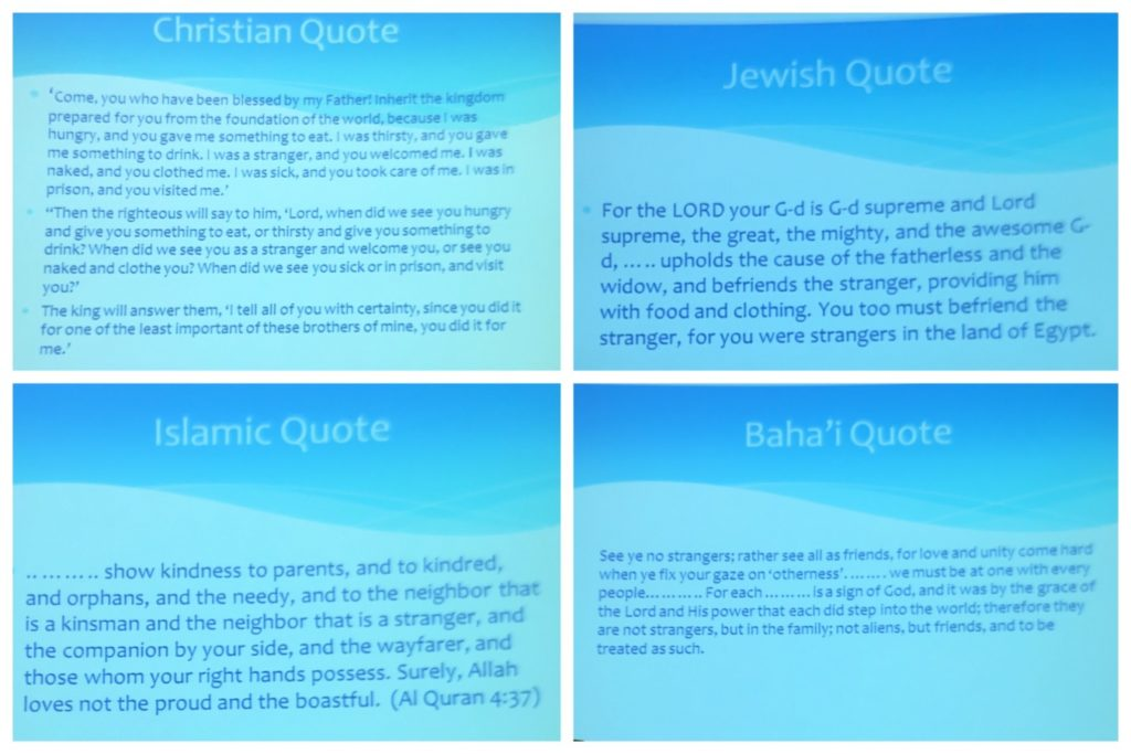 Quotes from four faiths
