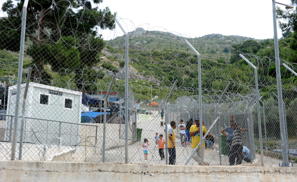 The Island of Samos which in it's peak (November 2015) was receiving 85,000 refugees a month arriving by boat. Pictured is the 'new' government run refugee camp where they have all held since the borders between Turkey,Greece and Macadonia closed.We were not allowed to enter.