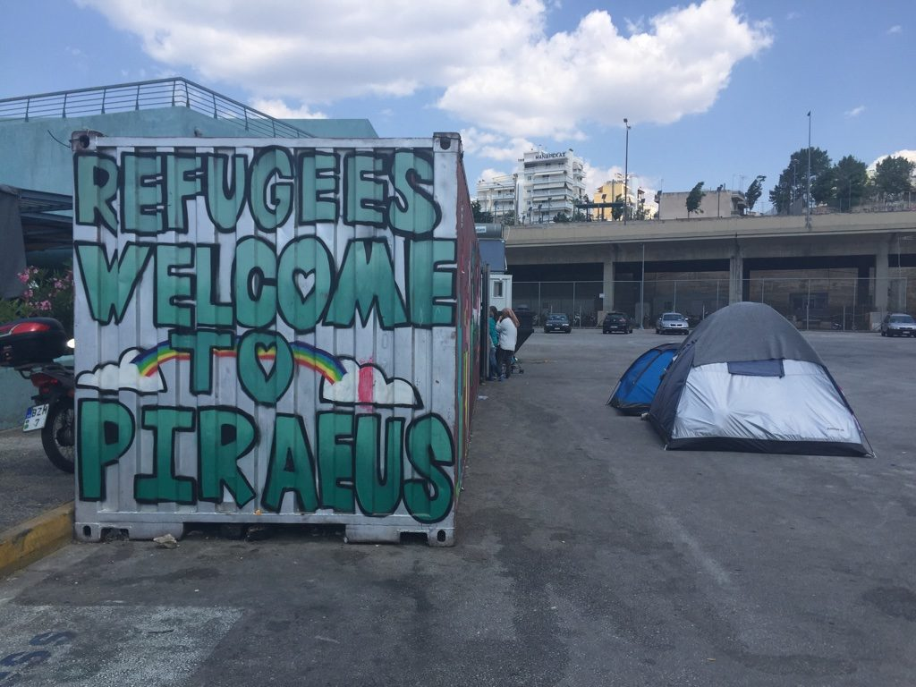 refugees welcome graffiti - photo by Clare McBeath