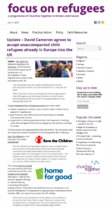 Focus on Refugees unaccompanied childred
