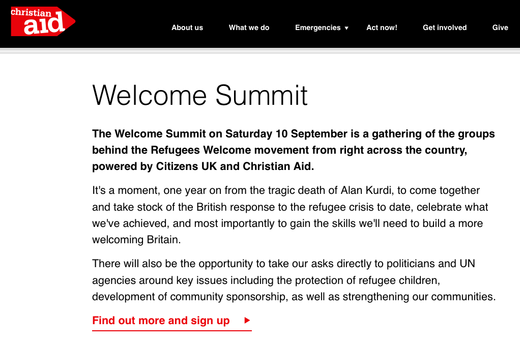Welcome Summit (Birmingham on Saturday 10 September)