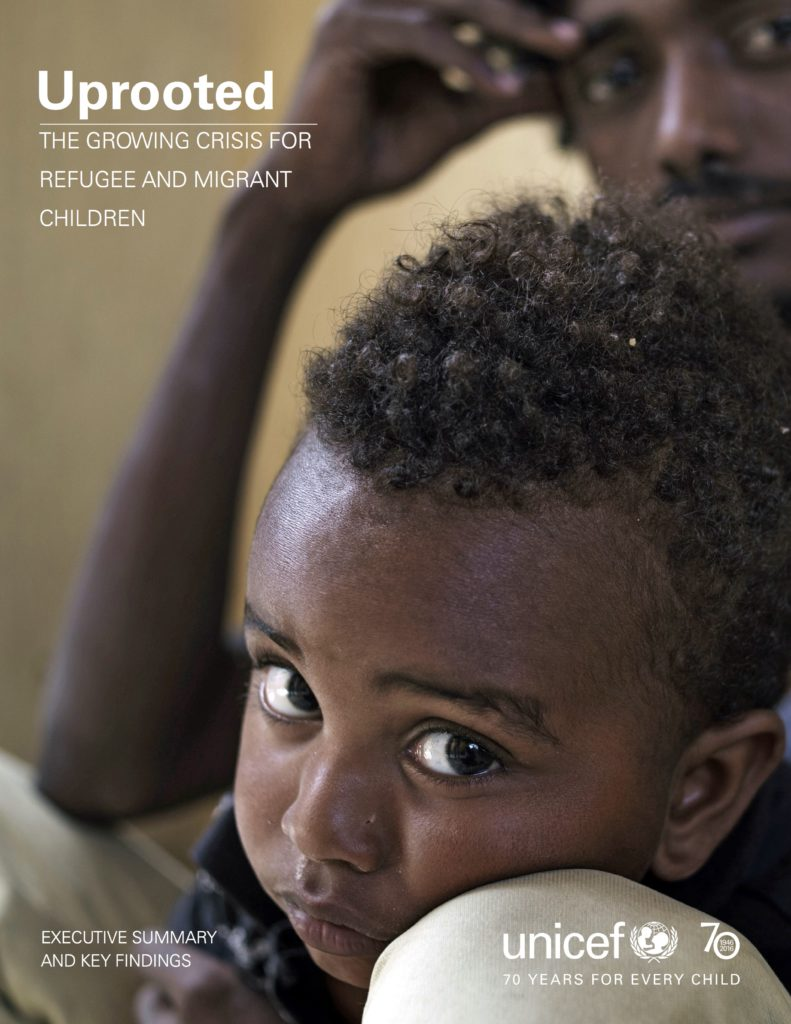 Unicef Uprooted report front cover