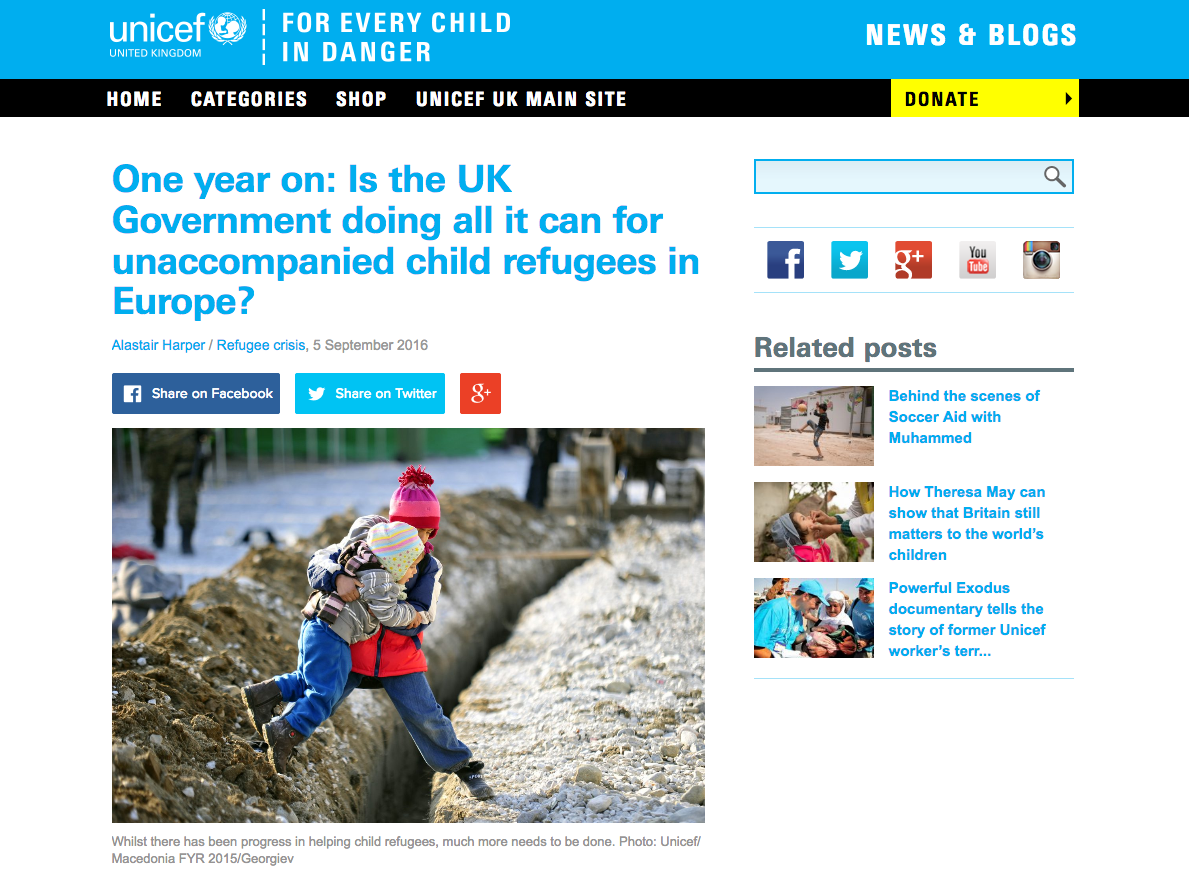 Unicef call for faster family reunification + petition