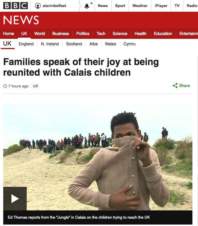 14 teenage boys arrive in UK from Calais
