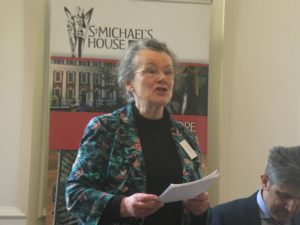 Fleur Houston speaking at Churches Refugee Network conference in Coventry