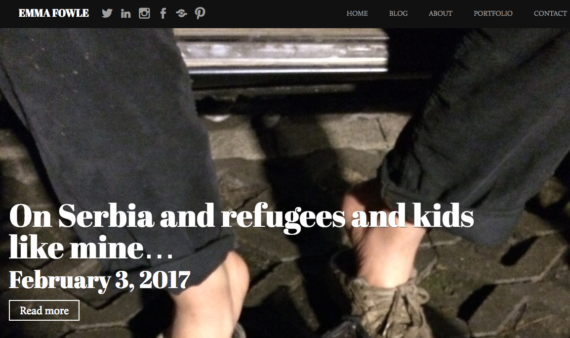 Refugees in Serbia face harsh winter – Emma Fowle's reflects on her recent visit