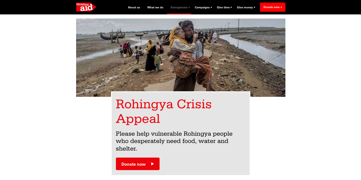 Christian Aid Rohingya Crisis Appeal