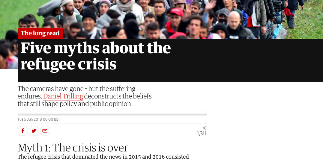 Myth busting the refugee crisis