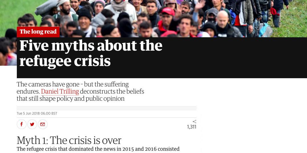 Myth busting the refugee crisis